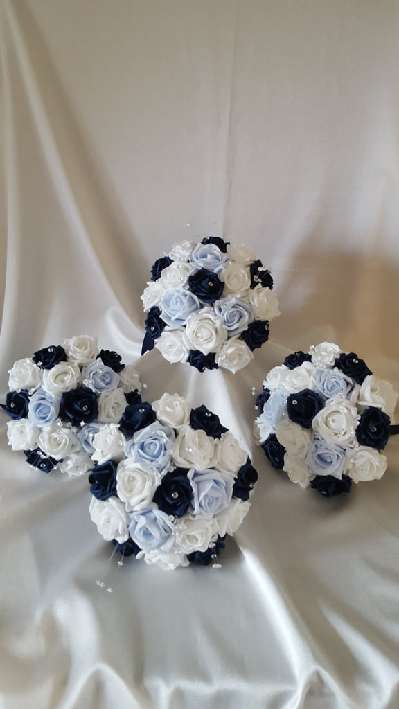 Navy And Baby Blue Wedding Flowers Saras Fine Flowers