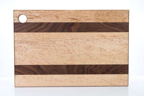 Birdseye Hard Maple and Walnut Cutting Board