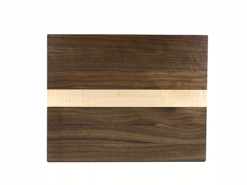 American Black Walnut & Curly Hard Maple - Manhattan Cutting Board