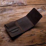 "Handmade Genuine Cowhide Leather Wallet inspired by ""The Secret Life Of Walter Mitty"" Movie"
