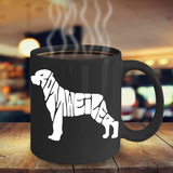 Rottweiler Dog Lover 11 oz Coffee Mugs - Black Novelty Coffee Mugs - Perfect Gift for Dog Lovers - Ceramic Coffee Cup With Sayings Printed On Both Sides - Dog Themed