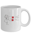 Cute Magnet Girl 11 oz Mug