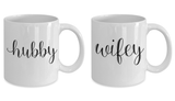 Wifey And Hubby 11oz Couple Mug