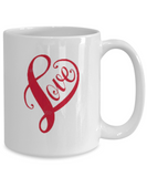 Heart Love  11 & 15 oz Mug