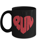 Run Heart Mug 11oz And 15oz Mug
