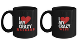 I Love My Crazy Half 11oz Couple Mug