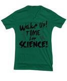 Wake up time for Science Vneck Shirt