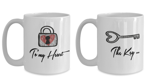 You Are The Key To My Heart 15oz Couple Mug