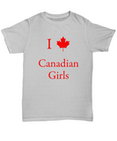I love canadian Girls Unisex Tee