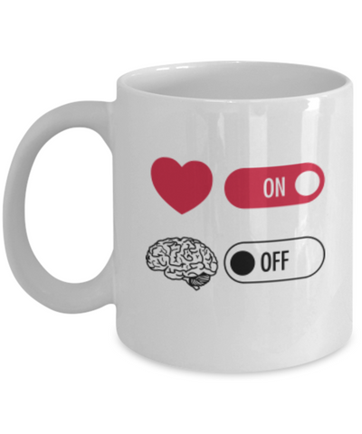 Heart Vs. Brain 11oz Mug