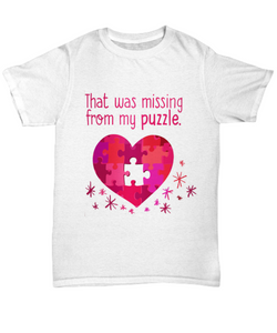That was missing from my puzzle unisex tee