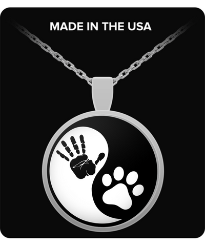 Ying Yang Work Dog Necklace