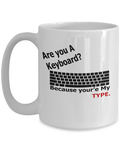 Are You A Keyboard 15oz Mug