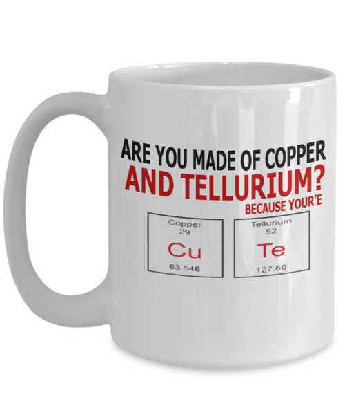 Copper and Tellurium 15oz Mug