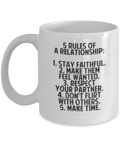 5 Rules of Relationship Mug