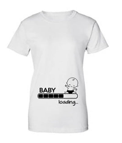 2d41b46b ... Pregnancy Baby Loading Dad To Be Funny short sleeve Tee T-shirts for mens  womens