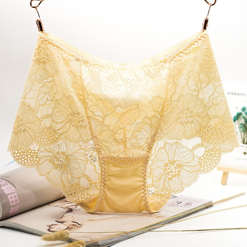 fcf70d3f363 High Waist Lace Soft Breathable Hollow Out Seamless underwear womens  novelty ...