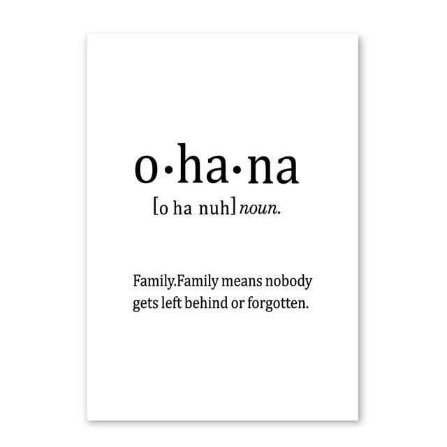 Inspirational Black And White Love Quotes Poster Family