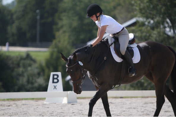 """It is more rewarding to do well on a baby OTTB than win on a fancy horse. Chappie and I came in 14th place and I was so proud."""