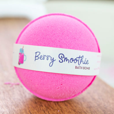 berry smoothie bath bomb