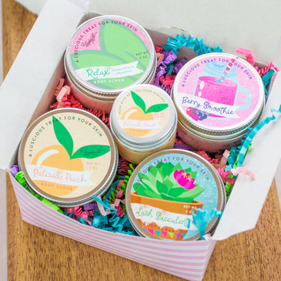 Body Scrub + Palisade Peach Lip Scrub Sample Set - Limited Edition