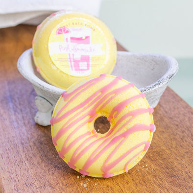 Pink Lemonade Donut Bath Bomb