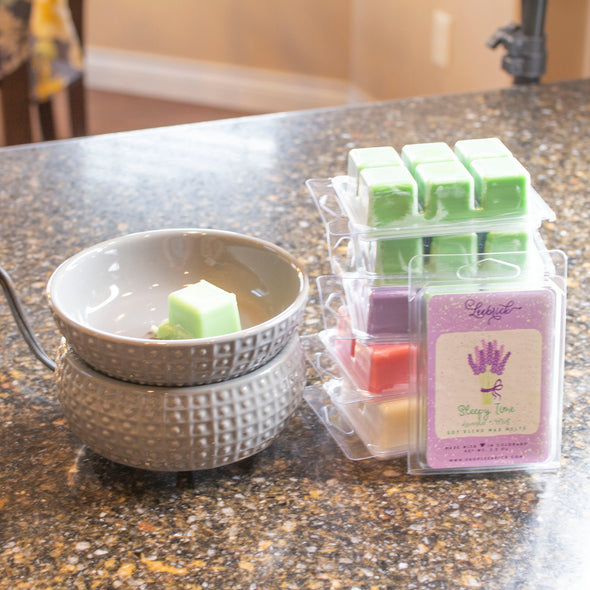 Slate Gray Wax Melter + 6 wax melts - Limited Edition