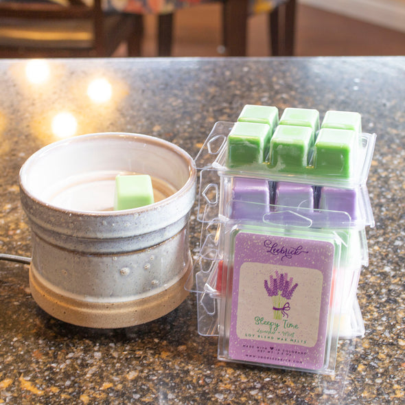 Rustic White Wax Melter + 6 wax melts - Limited Edition