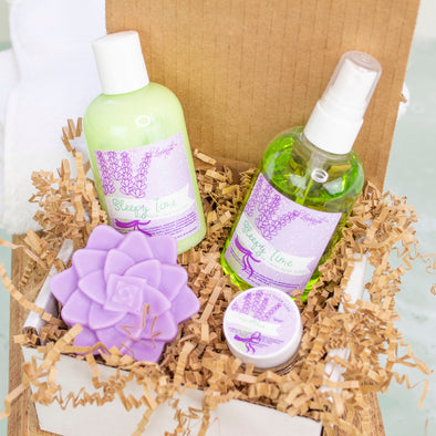 Lavender Gift Set - Soap - Spray - Lotion - Lip Balm