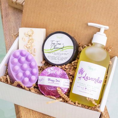 Lavender Organic Soap Spa Gift Basket