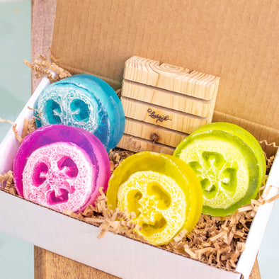Luffa Soap Gift Set - Exfoliating Foot Soap