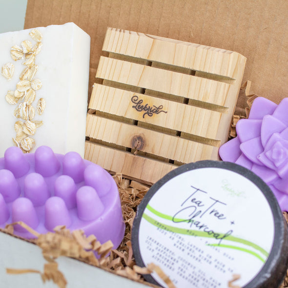 Soap Lovers Natural Gift Set - Lavender - Charcoal - Oatmeal