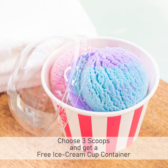 Blue Raspberry Slushie Bubble Scoop Truffle