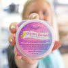 Alicia showing unicorn berries sugar scrub