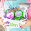 assortment of lavender bath and body products