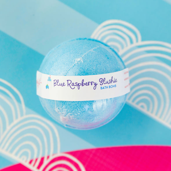 Blue Raspberry Slushie Scented Bath Bomb
