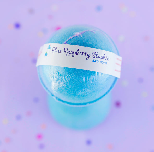Blue Raspberry Blue Bath Bomb