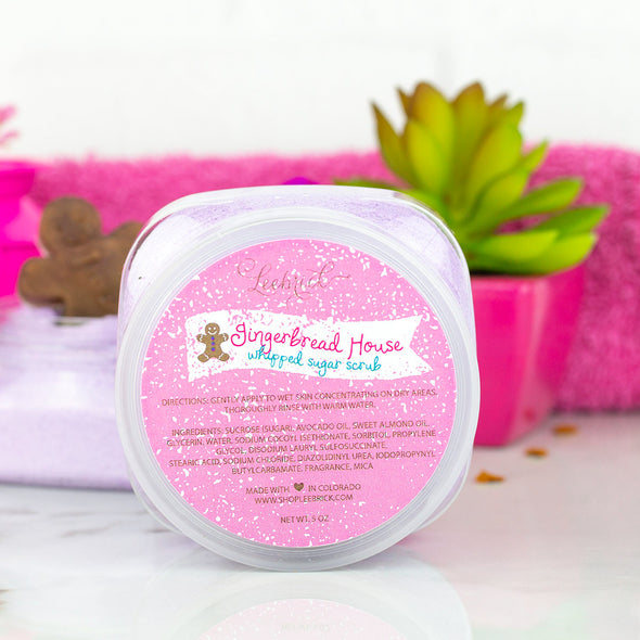 Leebrick Gingerbread House Whipped Sugar Scrub