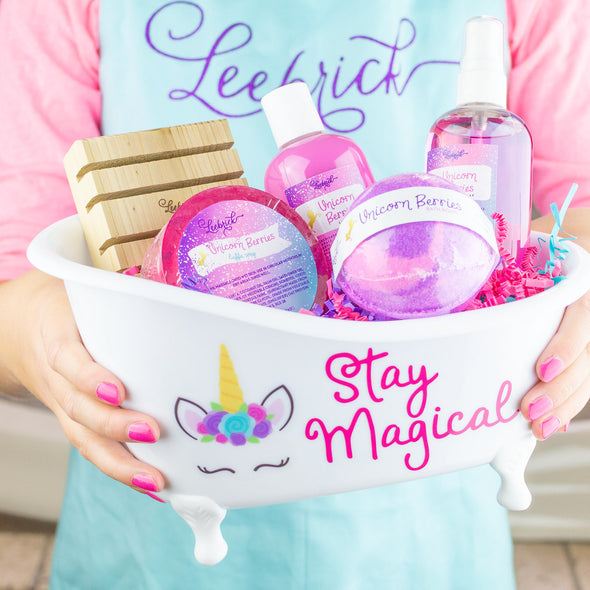 Girls bathtub gift set, stay magical unicorn