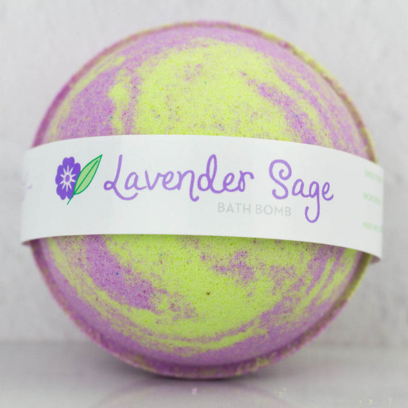 Lavender Sage Large 5 oz Bath Bomb