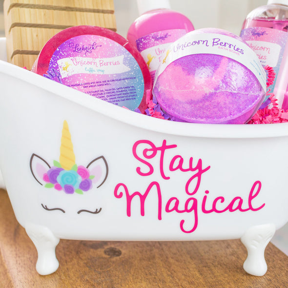 Magical unicorn bath and body gift
