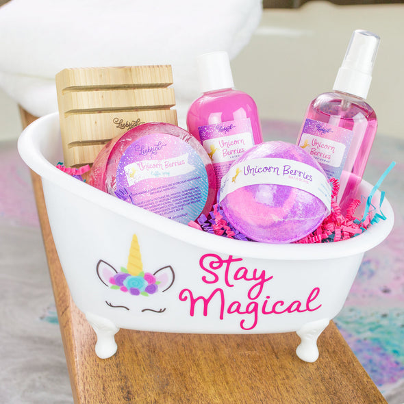 Magical unicorn bath and body products bathtub gift set