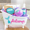 Mermaid Bathtub gift set with name