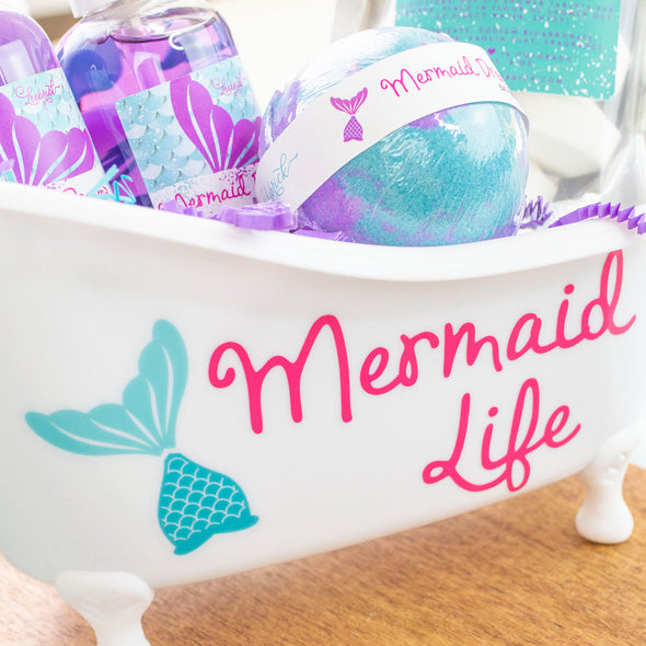 Mermaid Life Bath Tub Gift Set