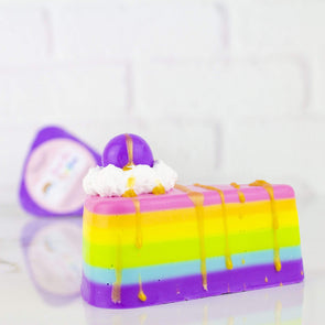 Over the Rainbow Cake Slice Soap