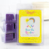 A pack of over the rainbow wax melts set against 3 other packs of wax melts