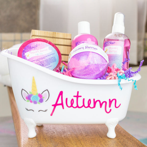Personalized unicorn bath and body gift