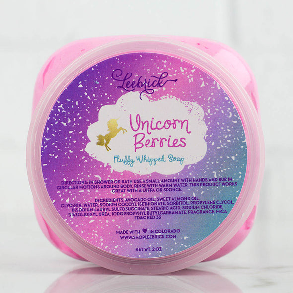 Unicorn Berries Scented Fluffy Whipped Soap by Leebrick