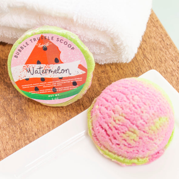 Watermelon bubble scoop truffle