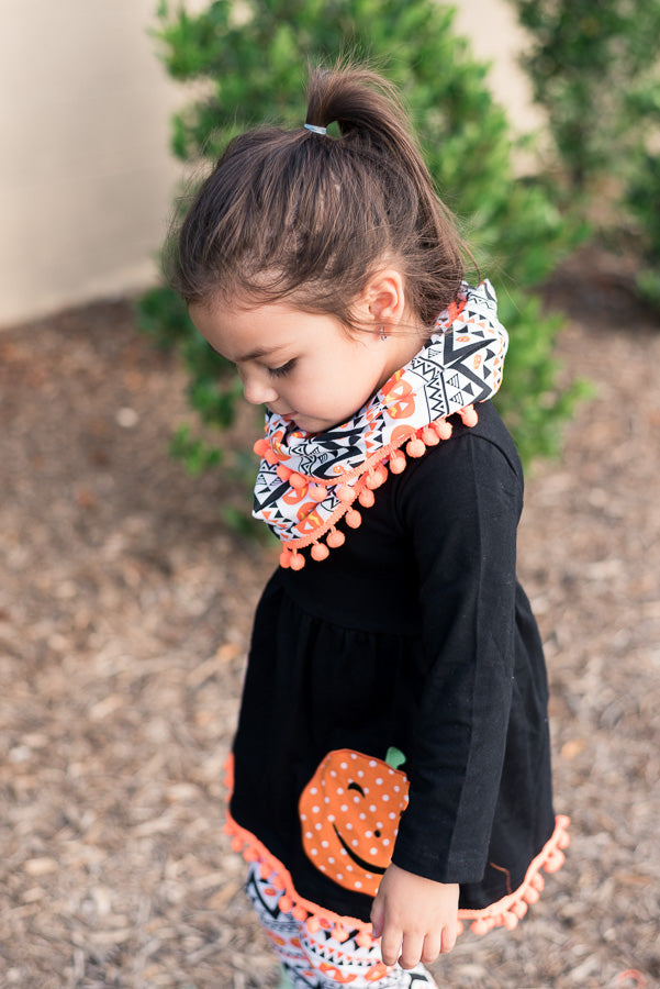 Girls' Pumpkin Halloween Thanksgiving Outfit
